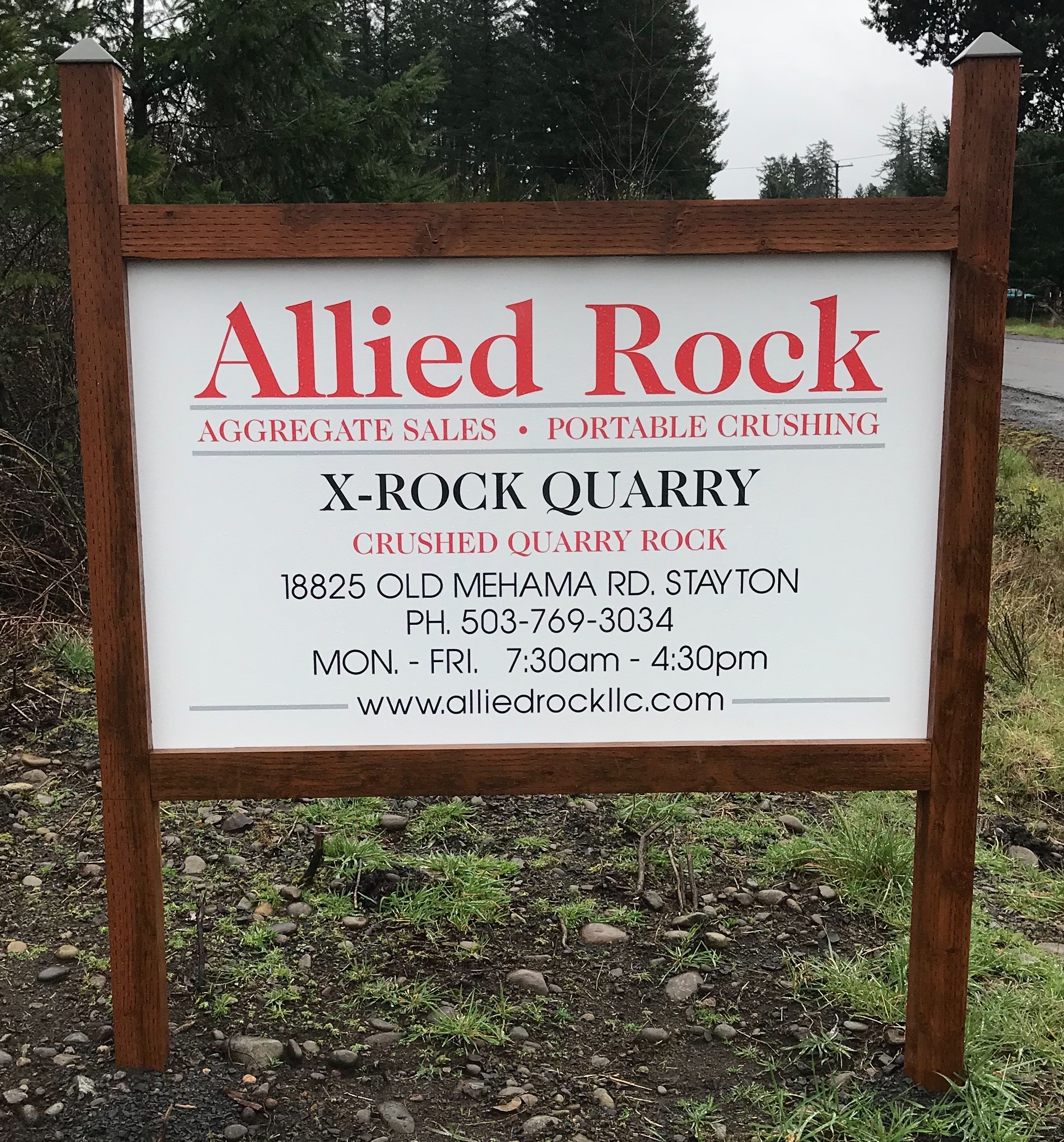 Allied Rock acquired the X-Rock Quarry